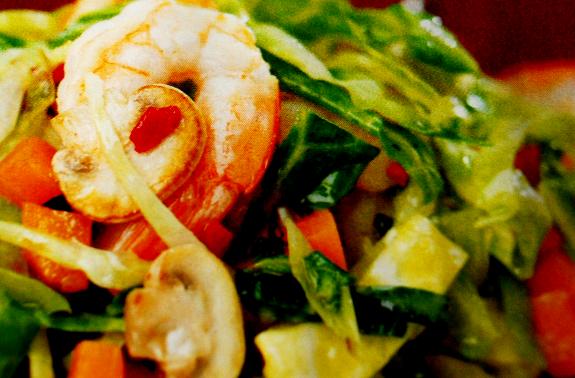 insalata verza gamberetti