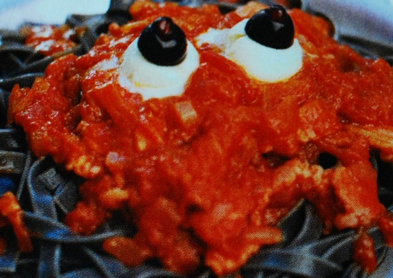 spaghetti halloween occhi