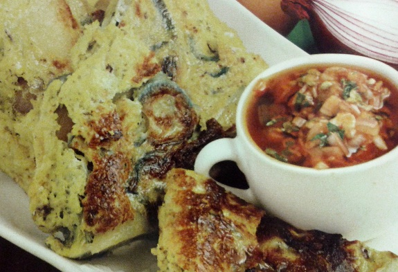 Frittata con spinaci e gorgonzola