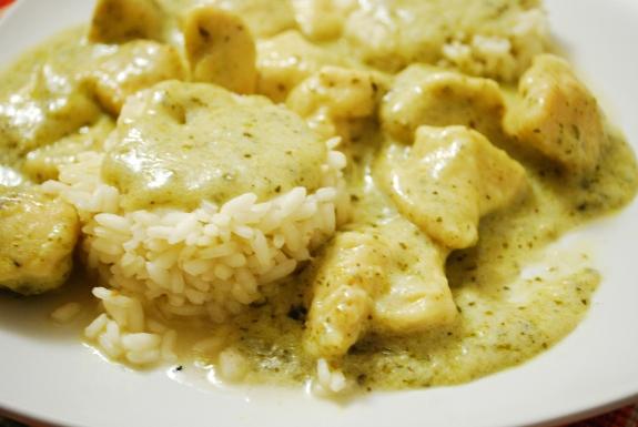pollo curry riso e cocco