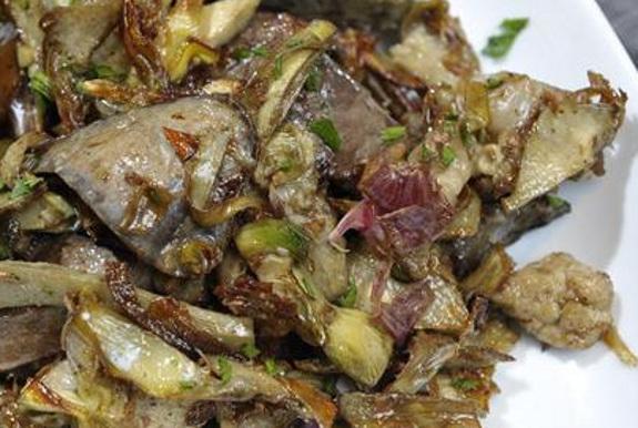 Coratella con carciofi ricetta di roma per pasqua for Ricette con carciofi