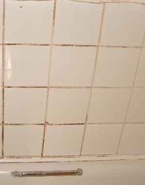 Stucco per fughe piastrelle doccia