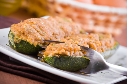 zucchine al forno ripiene di tonno piatto unico