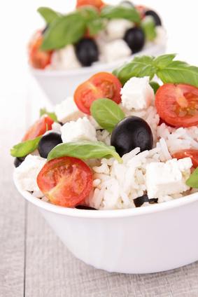 insalata di riso light greca