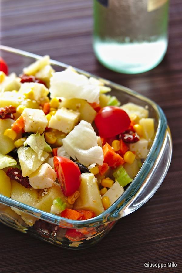 insalata patate e formaggio