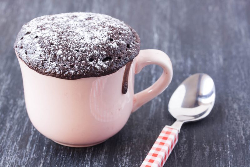 Chocolate Mud Cake In A Mug Recipe Baked In The Oven Or