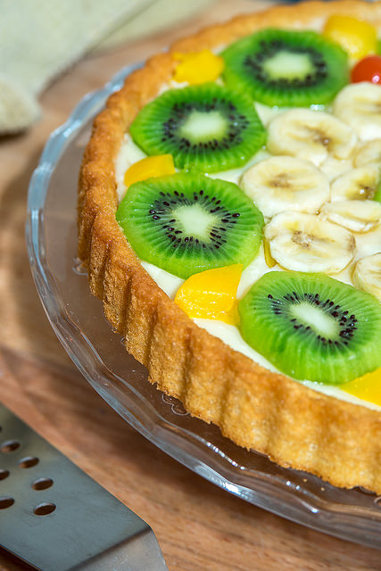 Ricetta biscotti torta torta alla frutta fresca con pan for Frutta con la o iniziale
