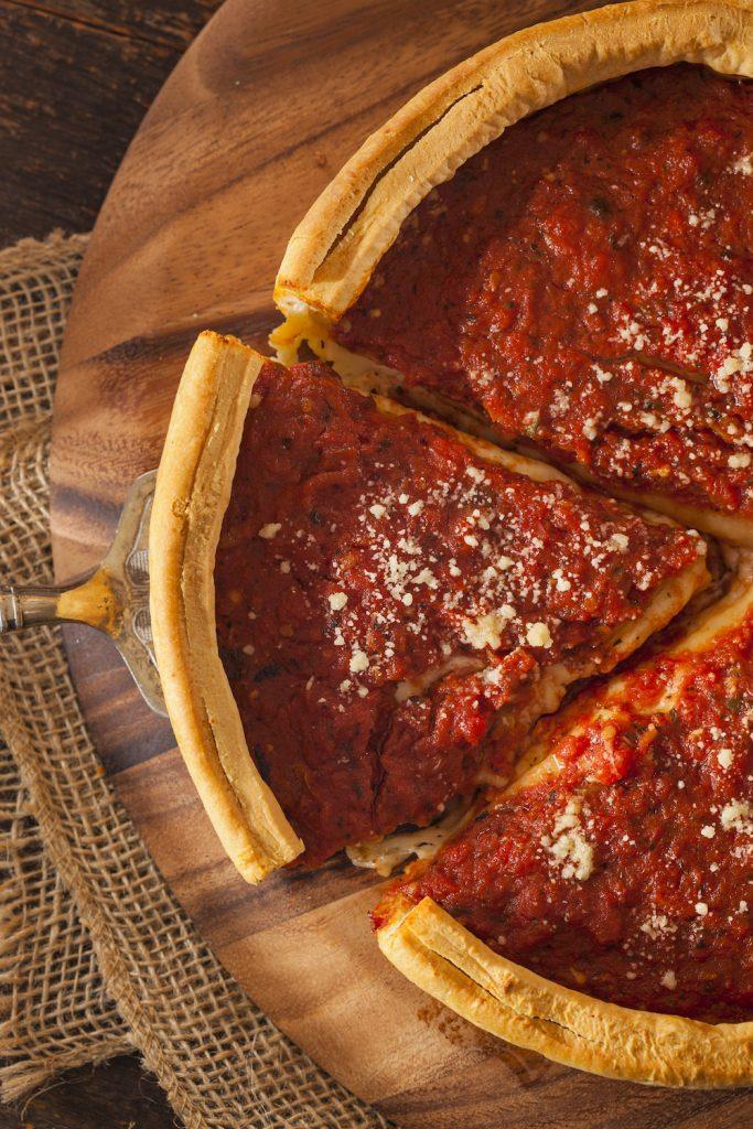 Chicago pizza pie