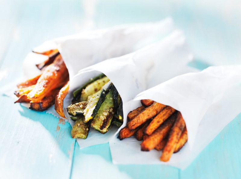 trio di zucchine al forno