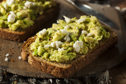 Avocado toast feta