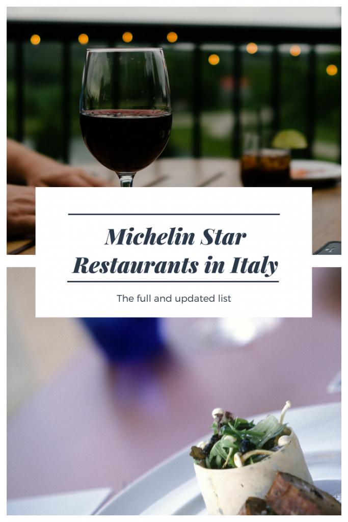 Michelin Star Restaurants in Italy