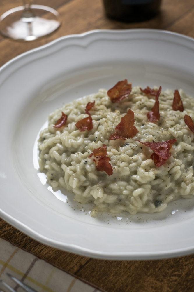 Risotto gorgonzola bresaola