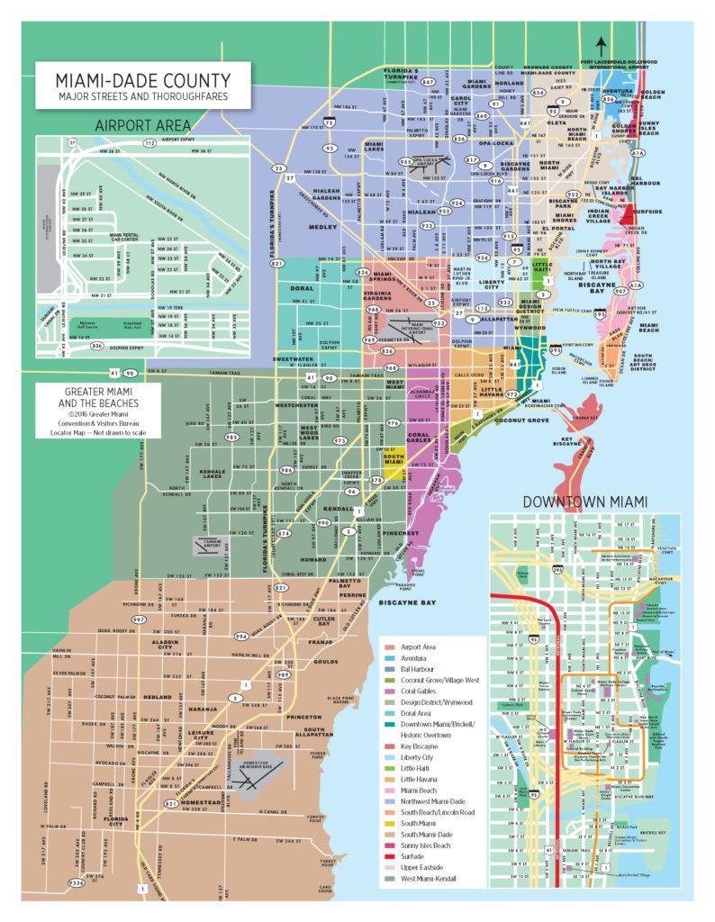 Mappa di Miami