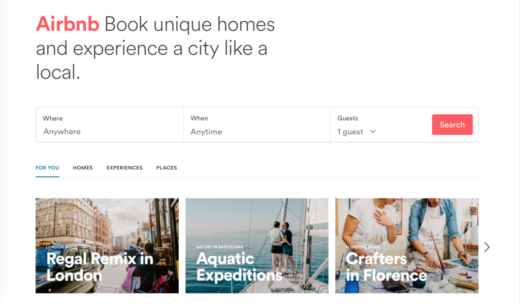 trips airbnb