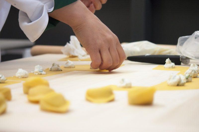 Making pasta at FICO Bologna