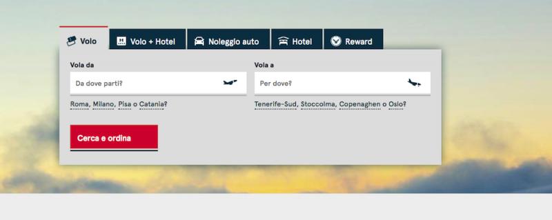 Norwegian prenotazione