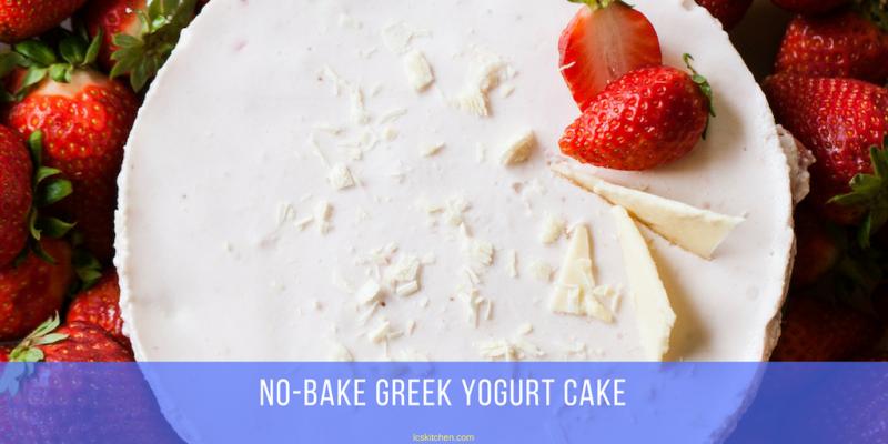 no bake greek yogurt cake recipe with strawberries and without gelatin
