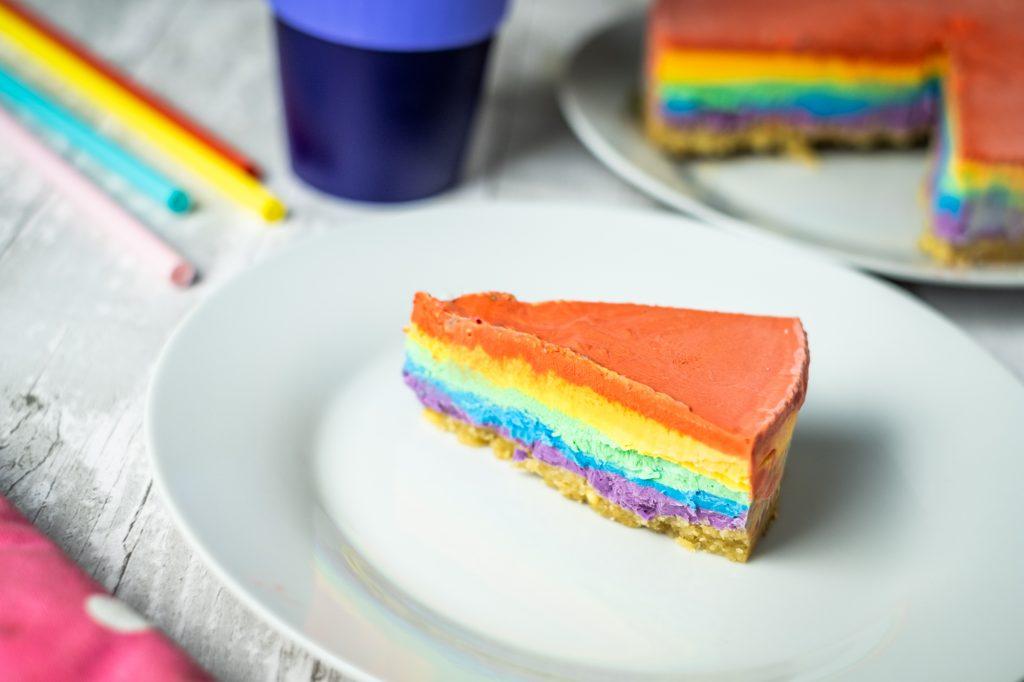 Cheesecake rainbow