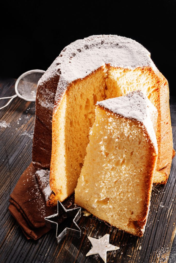 Pandoro typical Italian christmas sweet bread