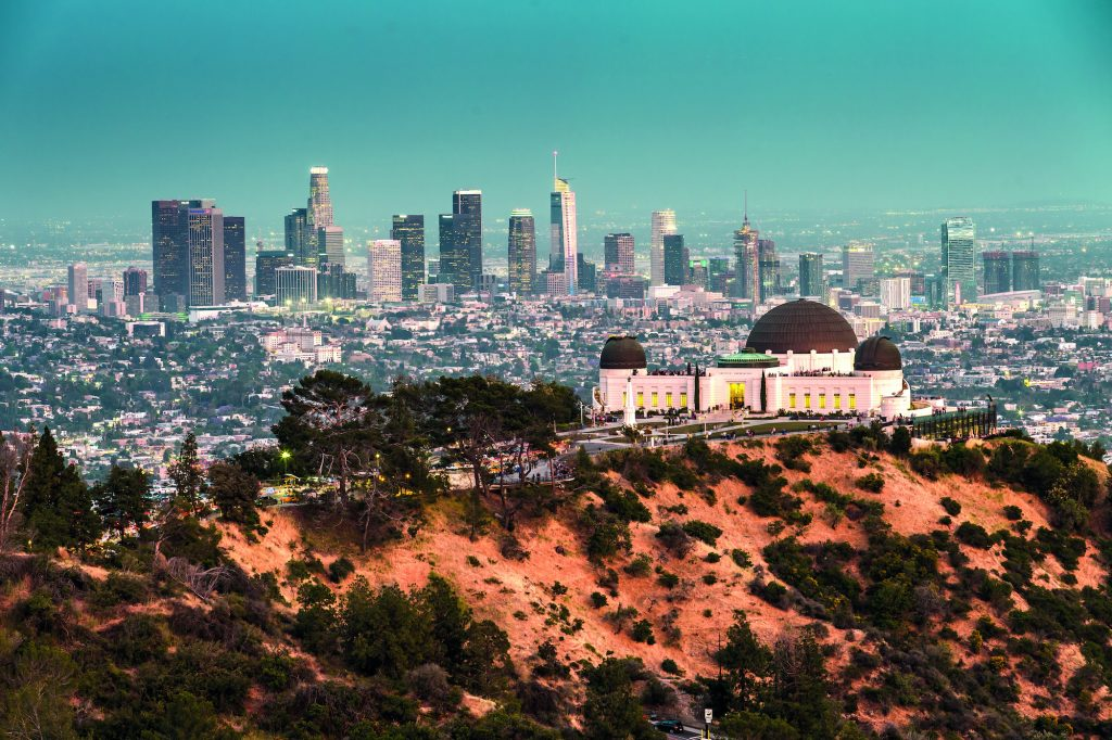 Griffith Observatory and the Skyline of Los Angeles